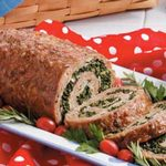 Spinach-Filled Turkey Roll
