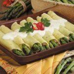 Asparagus Sausage Crepes