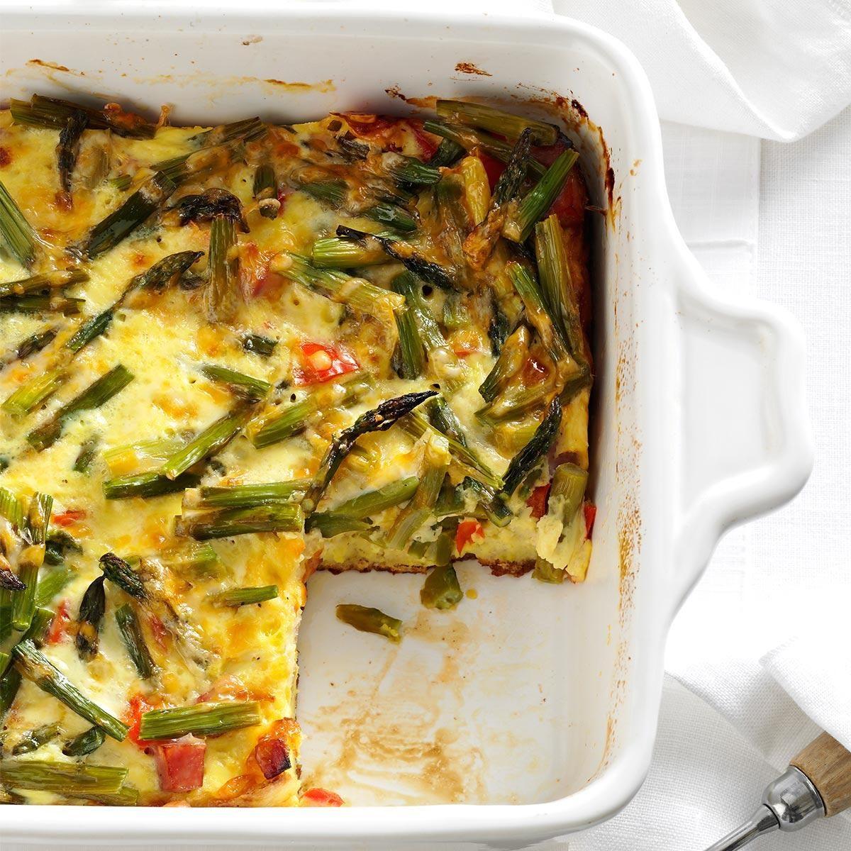 Overnight Asparagus Strata Recipe Taste Of Home