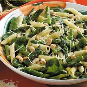 Warm Asparagus Spinach Salad