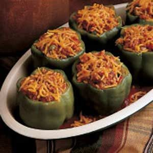 Meat Loaf-Stuffed Peppers