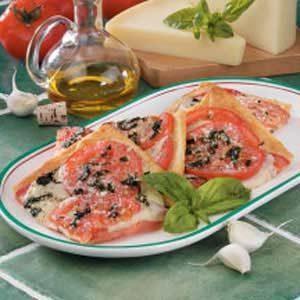 Fresh Tomato Basil Pizza