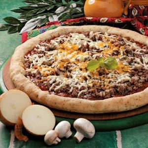 String Cheese Stuffed-Crust Pizza