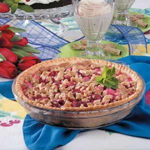 Dutch Rhubarb Pie