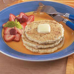 Nutty Buttermilk Oat Pancakes