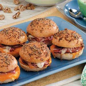 Hot Colby Ham Sandwiches