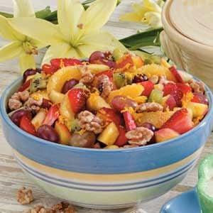 Sugared Walnut Fruit Salad