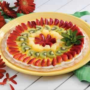 Vanilla Fruit Pizza