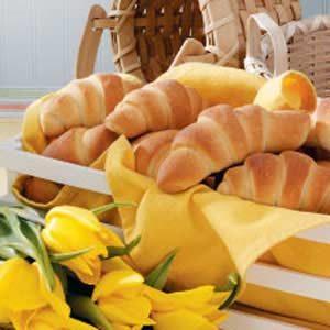 Golden Buttery Crescent Rolls
