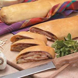 Three-Meat and Cheese Stromboli