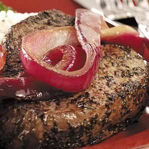 Peppered Beef Tenderloin Steaks