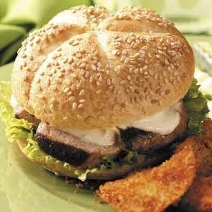 Grilled Pork Tenderloin Sandwiches