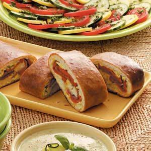 Pepper Artichoke Stromboli