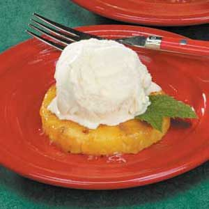 Glazed Pineapple Sundaes