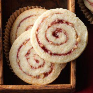 Raspberry Nut Pinwheels
