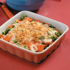 Carrot Coin Casserole with Cheddar