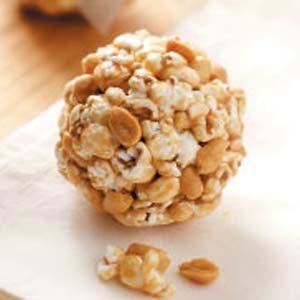 Peanutty Popcorn Balls