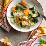 Creamy Sweet Potato and Veggie Soup