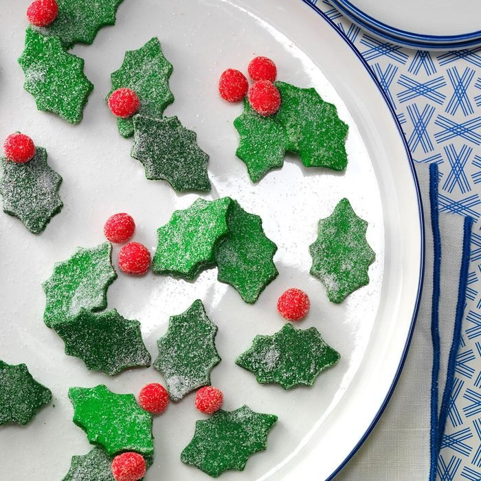 Holly Butter Mints