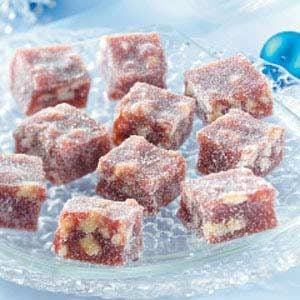 Jellied Cranberry Nut Candies