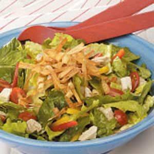 Chicken Salad with Crispy Wontons