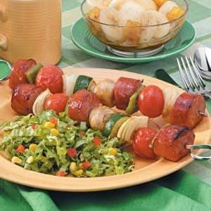 Smoked Sausage Kabobs