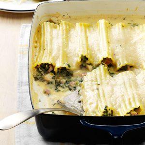 Spinach Chicken Manicotti