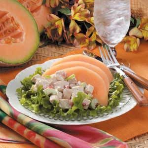 Cantaloupe Chicken Salad for Four