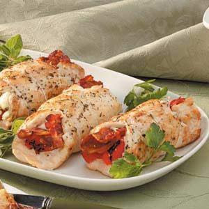 Bacon-Feta Chicken Rolls