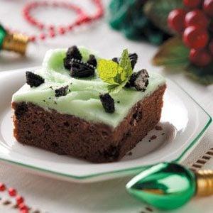Mint Cookies 'n' Cream Brownies