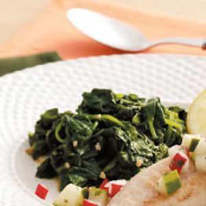 Wilted Garlic Spinach