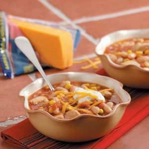Slow-Cooked Chicken Chili