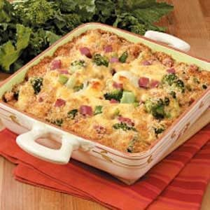 Cheesy Broccoli Cauliflower Casserole