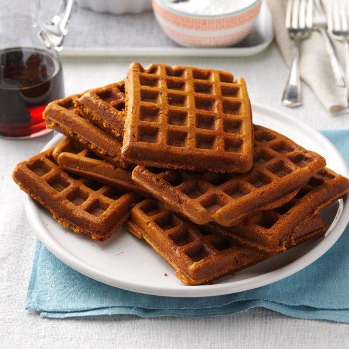 Gingerbread Buttermilk Waffles