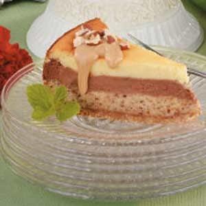 Layered Hazelnut Cheesecake