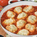 Parsley Dumplings with Tomatoes