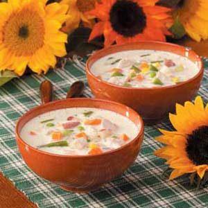 Creamy Turkey Vegetable Soup
