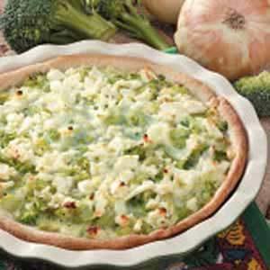 Caramelized Onion Broccoli Quiche
