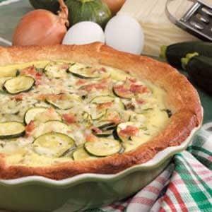 Zucchini Bacon Quiche