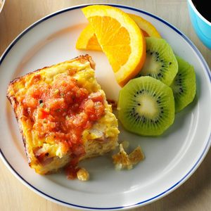 Overnight Ham and Egg Casserole