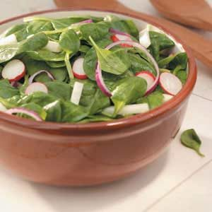 Jicama-Radish Spinach Salad