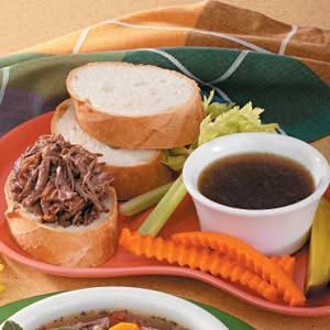 Pressure Cooker French Dip Sandwiches