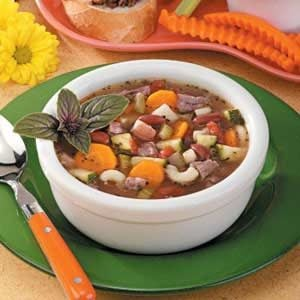 Beef and Pasta Vegetable Soup