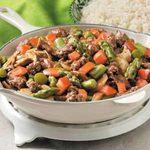 Asparagus Mushroom Beef Stir-Fry