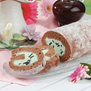 Mint-Chip Ice Cream Roll