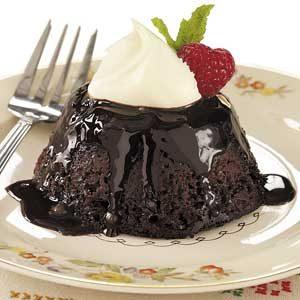 Chocolate-Pecan Pudding Cakes