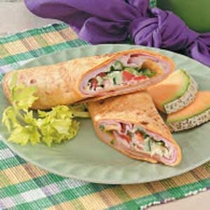 Warm Ham 'n' Swiss Wraps