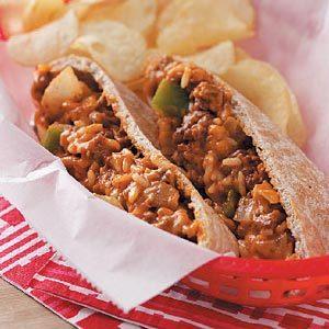 Cheeseburger Pitas