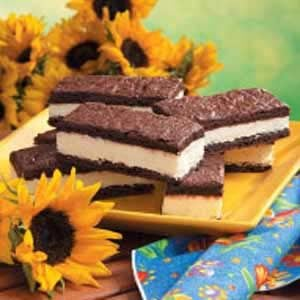 Frozen Mousse Brownie Sandwiches