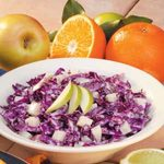 Red Cabbage Apple Slaw